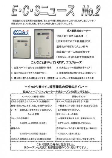ECSニュース2号