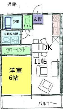 須賀川市雅ハイツ間取り図